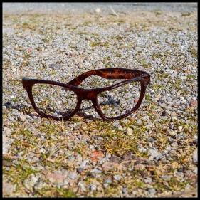Einsame Brille