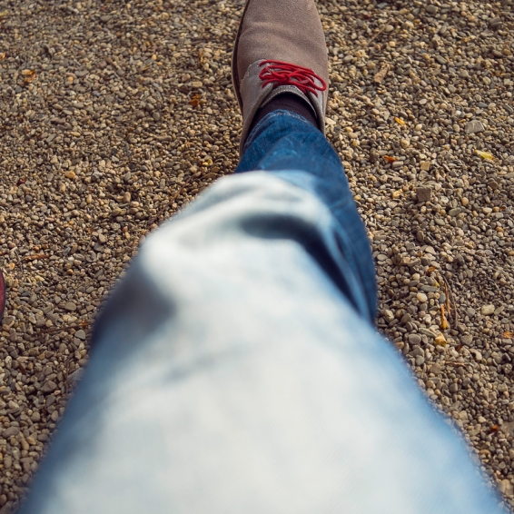 Rote Schnürsenkel