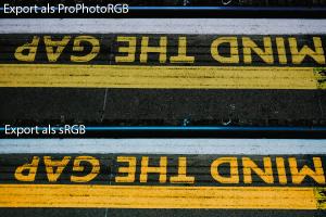 Export als sRGB und ProPhotoRGB